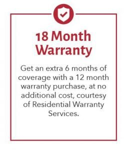 18 Month Residential Warranty Services